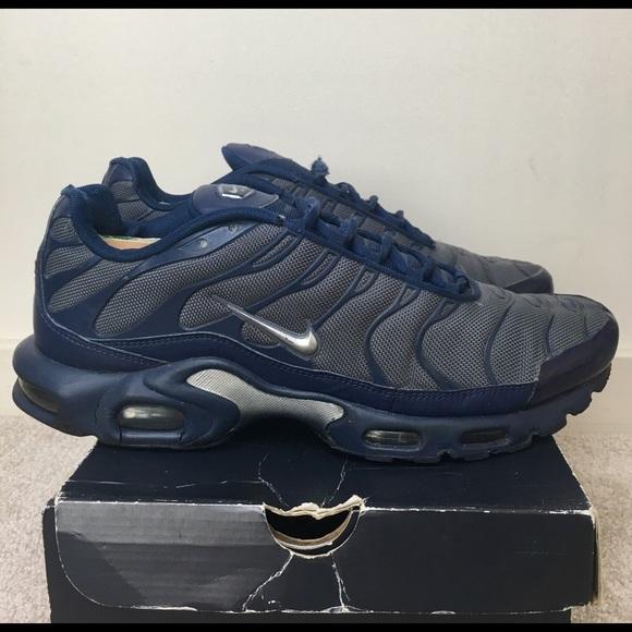 Nike Air Max Plus TN Navy & Gray Men's Size 13